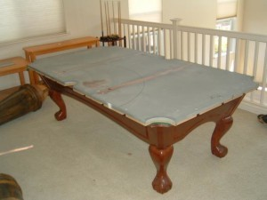 Proper pool table moving process in Lakeland Florida